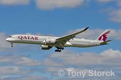 A7-ANI (bwi2muc) Tags: lhr airport airplane aircraft airline plane flying aviation spotting spotter airbus a350 qatar qatarairways a3501000 oneworld a7ani heathrowairport heathrow oneworldalliance londonheathrow