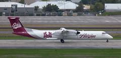 DHC-8 | N402QX | PDX | 20111006 (Wally.H) Tags: bombardier dehavillandcanada dhc8 dash8 n402qx horizonair universityofmontana grizzlies pdx kpdx portland airport