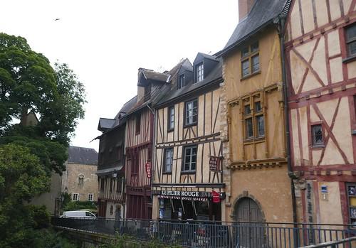 Rue du Pilier Rouge, cité Plantagenêt, Le Mans, Sarthe, Pays de la Loire, France.