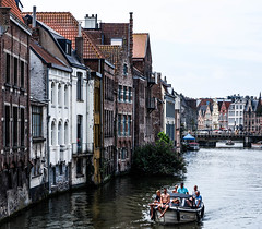 Boating on the River Lys (MikeTheExplorer) Tags: ghent gent gand belgium belgië belgique europe europa travel traveling traveler wanderlust travelling traveller explore discover architecture city citytrip fujifilm fujifilmxt100 camera composition