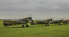 Spitfires - Duxford Flying Legends 2019 (phil_king) Tags: aircraft aeroplanes aviation supermarine spitfire mk1 mk1a military fighter ww2 raf flying legends duxford display england uk
