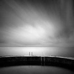 Go for a Quick Swim (Bernd Walz) Tags: sea seascape tidalpool wind silence calmness minimalistic minimalism blackandwhite bnw bw monochrome fineart square longexposure