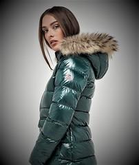 Fur hood (furhoods) Tags: fur hood down puffer winter coat jacket shiny portrait