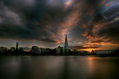Sunset at River Thames (lfeng1014) Tags: theshard sunsetatriverthames sunset riverthames londoncityhall cityhall sunsetsky sunrays london england uk river canon5dmarkiii ef1635mmf28liiusm longexposure travel lifeng