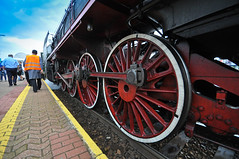 red wheels (rafasmm) Tags: lodz łódź poland polska europe train locomotive red wheels color outdoor mechanical soul old machine power innovation human nikon d90 sigma 1020 ex