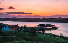 Sunset over Loch Erisort (Bev & Paul Mynott) Tags: light sunset scotland hebrides outerhebrides lewisharris holiday2019