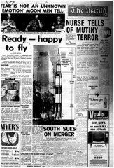 The Melbourne Herald- Tuesday July 15, 1969- Page 1- Apollo 11 Mission Buildup (Vax80) Tags: apollo 11 moon landing nasa national aeronautics space administration july 1969 melbourne the herald newspaper neil armstrong edwin buzz aldrin michael collins saturn command service lunar module rocket cape canaveral kennedy australia united states america