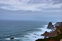 The end of the world (Pictures in my head) Tags: portugal lisbon lisboa lisbonne new city travel with friends students history nature lover explore discover explorer discovery water ocean rocks sky blue colours end world time beauty photography relax chill breath breathe meditation cabo da roca
