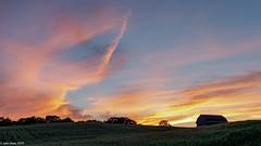 UNDULATING EVENING (John E. Allen) Tags: johnallen barn sunset farmland leica zeiss undulation westmichigan farm rural light