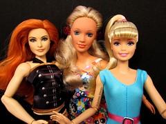 2 blonds and a redhead (Nickolas Hananniah) Tags: babrie doll dolls fashiondolls superstarbabrbie superstar super star articulateddoll darci kenner darcidoll kennerdoll mattel wwedivas divas wwe actiondoll actionfigure toy collectabledoll redhead hair makeup blonde story toystory