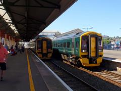 158957 & 158958 Paignton (Marky7890) Tags: 158958 2f25 gwr 158957 class158 expresssprinter 2c67 paignton railway devon rivieraline train