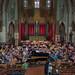 DSCN0290c Rehearsal. Scriabin Piano Concerto, Piano Varvara Tarasova. Ealing Symphony Orchestra. Leader Peter Nall. Conductor John Gibbons. St Barnabas Church, west London. 13th July 2019