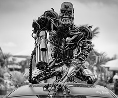 About to be terminated (nigelboulton72) Tags: terminator robot mechanical movie blackandwhite sculpture assasin killer gun