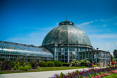 Belle Isle Conservatory - Partial Exterior View (Tony Rich Photography) Tags: michigan belleisle gem emerald statepark anna scripps whitcomb conservatory detroit