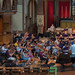DSCN0231left Ealing Symphony Orchestra. Leader Peter Nall. Conductor John Gibbons. St Barnabas Church, west London. 13th July 2019