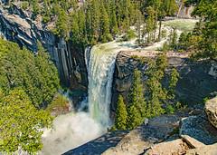 Vernal Fall At Full Throttle, Yosemite National Park (Steven Barrows) Tags: yosemitenationalpark vernalfall misttrail johnmuirtrail yosemite vernalfallyosemite mercedriver yosemitevalley waterfall nationalpark usnationalpark bestphotoofthedaygroup