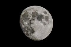 Waxing Gibbous (tduaneparker) Tags: nikon tamron tamron70300mmf456divc dx nikond7100 night kentucky gibbous waxing astrophotography moon