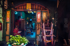 Old Chinatown Bangkok (shapeshift) Tags: alley architecture asia bangkok chairs chinatown city clock davidpham davidphamsf dilapidated doors people rundown shapeshift southeastasia stools street streetphotography thailand travel urban vegetables woman yaowarat happyplanet asiafavorites