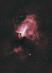 Omega Nebula (AstroBackyard) Tags: astrophotography nebula omega swan m17 stars night telescope optolong lenhance filter light pollution astronomy space sagittarius milky way