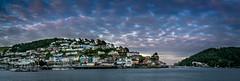 Dartmouth Evening Panorama (Johnners61) Tags: dartmouth devon uk england coast river riverdart panorama pano panoramic sky mackerelsky kingswear evening twilight drama dramatic dramaticsky mood moody olympus olumpusomd omdem5 m43 mft microfourthirds