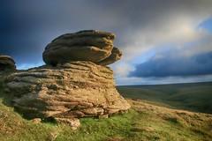 (OutdoorMonkey) Tags: dartmoor devon steepertontor tor hill hillside moor moorland remote outside outdoor evening sunshine sunlight sun countryside rock outcrop geology rockform
