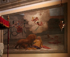 The Martyrdom of St. Euphemia (Wolfgang Bazer) Tags: church st euphemia kirche kapelle chapel sarcophagus sarkophag relics reliquien mural wandgemälde gemälde painting martyrium martyrdom löwen lions legend legende rovinj rovigno istrien istria kroatien croatia kircheninnenraum interior saint heilige