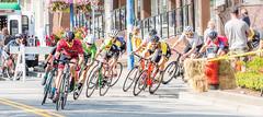 Rounding the corner. Tour de White Rock, BC. (gks18) Tags: canon lightroom nik bikes people sports racing