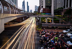 Chong Nonsi (TigerPal) Tags: bangkok thailand trip vacation travel chongnonsi longexposure traffic blur motorcycle lightstream lighttrails bridge thai motionblur happyplanet asiafavorites
