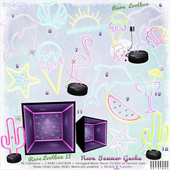 [ bubble ] Neon Summer Gacha (::: insanya ::: & [ bubble ]) Tags: secondlife bubble originalmesh accessories decor walldecor neons summer mesh gacha gachafair exclusive lootbox