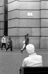 untitled (Oriol Puchol Coll) Tags: man people street streetphoto photo loneliness film bnw barcelona