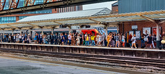 A Day At The Races (whosoever2) Tags: uk united kingdom gb great britain england nikon d7100 train railway railroad july 2019 chester cheshire races punters passengers travellers station virgin voyager