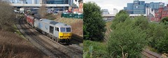 Then & Now Warrington Arpley2 (British Rail 1980s and 1990s) Tags: train rail railway loco locomotive lmr londonmidlandregion mainline cheshire livery warrington arpley liveried traction db dbc dbs cargo schenker br britishrail freight railfreight 60 class60 diesel