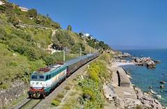 Trenitalia E656 091 Forza D`Agro (tobias.unsin) Tags: train treni trenitalia traction italy italien eisenbahn e656 zug landschaft bahn locomotive lok