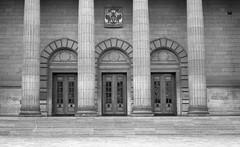 Caird Hall (Barry Carr) Tags: fomapanaction400 blackandwhite street mono streetmonochrome film kodakxtol fomapan tayside analogue nikon scotland monochrome streetmono xtol streetphotography analogphotography streetphoto nikkor50mmf18 bw nikonfa analog dundee