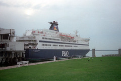 Pride Of Portsmouth, Le Havre, November 26th 1997 (Southsea_Matt) Tags: prideofportsmouth po europeanferries france lehavre november 1997 autumn boat ship transport vessel ferry