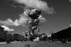 BAD DREAMS (JEAN TOUSSAINT TOSI) Tags: bestpicture bestphotomontage bestcomposite eiffeltower blancetnoir blackandwhite explosion crazy crazypictures war
