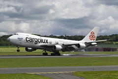 LX-ECV boeing B747-4HQF EGPK 27-05-19 (MarkP51) Tags: lxecv boeing b7474hqf b747 jumbojet cargoluc cv clx sealifetrust specialcolours cargo freighter prestwick airport pik egpk scotland airliner aircraft airplane plane image markp51 sunshine sunny nikon d7200 nikon70200f4gvr