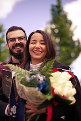 Graduation bliss (lebre.jaime) Tags: portugal beira covilhã graduation day daughter boyfriend digital fullframe ff fx nikon d600 voigtländer nokton 58f14sliis nokton5814sliis affinity affinityphoto