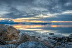 Great Salt Lake Sunset (ap0013) Tags: utah salt lake saltlakecity slc saltlake sunset sun landscape mountain west western statepark