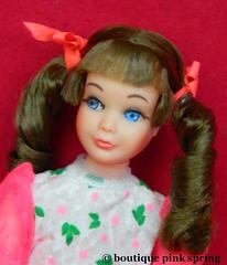 VINTAGE MOD SKIPPER SAUSAGE CURL BRUNETTE BARBIE DOLL w/ BUDDING BEAUTY OUTFIT (laika*2008) Tags: vintage mod skipper sausage curl brunette barbie doll w budding beauty outfit mattel