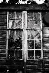 (a.pierre4840) Tags: olympus om3 zuiko 35mm f2 35mmfilm kosmofotomono100 bw blackandwhite noiretblanc window broken abandoned derelict ruined decay urbex dorset england