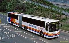 T96JHN Stagecoach East Midlands EMMS 96 (theroumynante) Tags: t96jhn stagecoach east midlands emms 96 volvo b10ma jonckheere modulo sheffield bus buses bendibus articulated singledeck lowfloor road transport
