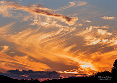 """Flaming sky"" (Terje Helberg Photography) Tags: cloudporn clouds cloudscape landscape scenery silhouette silhouettes sky skyporn skyscape sunset view"