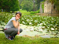 6074 - Manu & the waterlilies, oil painting (Diego Rosato) Tags: park parco english water garden painting pond ruins fuji lily royal gimp palace oil manu acqua palazzo reale x30 giardino inglese emanuela realm rovine caserta reggia stagno ninfea rawtherapee olio tela