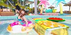 #Selfie (AlyceAdrift) Tags: summer lagom raindale boardwalk boardwalkevent refuge figure8 summerlove vibin summervibes pool water mermaid summertime second life secondlife secondlifeblogger blog bright rainbow heat midday sunshine