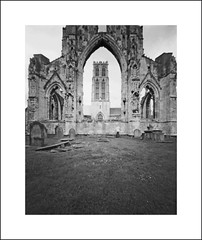 Howden Minster (oldeyes47) Tags: 4x5 ilford fp4 eastyorkshire filmphotography zeroimage howdenminster pinholecamera withoutalens pinholephotography largeformat