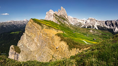 An old friend (Dan_Fr) Tags: sky landscape panorama mountains travel beautiful amazing view viewpoint seceda fermeda valgardena dolomites spectacular scenic rocky italia italy geislerspitzen odle ortisei ridge jawdropping sony a7r