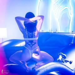 Ready! (Nadja33 Resident) Tags: secondlife female lingerie neon avatar hoo glitzz maitreya magika