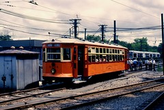 BERy Type 5 5734 Reservoir (ironmike9) Tags: track rail lightrail trolley streetcar tram bostonelevatedrwy bery mbta transit publictransit type5 lrv reservior brooklinema