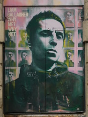 Liam Gallagher street art on the door of the old Roadhouse (stillunusual) Tags: manchester roadhouse liamgallagher northernquarter nq streetphotography street manchesterstreetart art artwork publicart streetart urban urbanart urbanwalls graffiti graffitiporn mural wall wallart wallporn mcr city england uk 2019